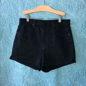 BDG Black Denim Shorts